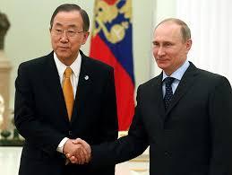 Presidente de Rusia yel secretario general de la ONU firman en nombre de la paz