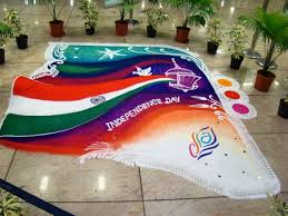 Best Ultimate Patriotic Independence Day Rangoli Designs photos for free download