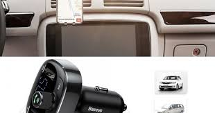 <b>Baseus</b> S-09 <b>T Cat Head</b> BT Dual USB Car Phone Charger Black