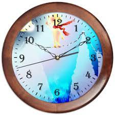 Часы круглые из дерева Канатоходец #2020036 от Anna ...