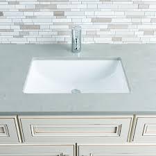 cloverdale rectangular porcelain undermount bathroom sink