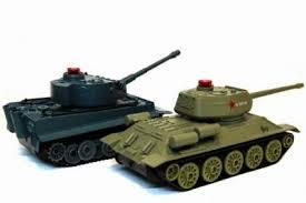 <b>Радиоуправляемый танковый бой</b> HuanQi Т-34 и Tiger 2.4G (два ...