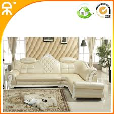 3 seat chaise loungelot luxury top grain leather sofa for villa buy chaise lounge leather