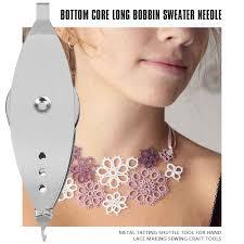 1pc <b>Metal</b> Tatting Shuttle Tool For Hand <b>Lace</b> Making Sewing Craft ...
