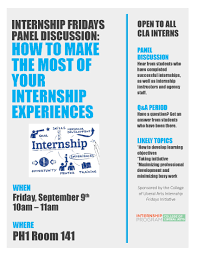 college of liberal arts csulb blog archive internship fridays internship panel cla internship fridays fall 2016