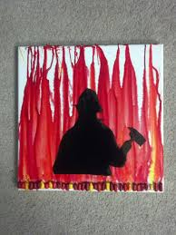 firefighter silhouette painting to be i want and new babies firefighter silhouette melted crayon art