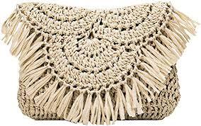 TENDYCOCO Crossbody Bag <b>Straw</b> Shoulder Purse with <b>Tassels</b> ...