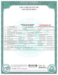 certification of vital record state of california department of san francisco birth certificate template ms word file