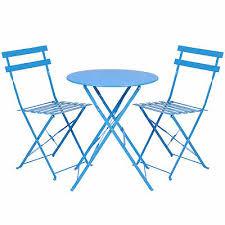 BCP <b>3</b>-<b>Piece Folding Bistro</b> Furniture Set w/ Adjustable Reclining ...