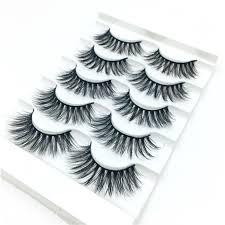 Women's <b>Fashion</b> Gracious Makeup Handmade 5 <b>Pairs Natural</b> ...