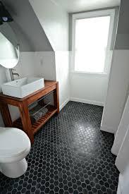 octagon tile floor solid wood bathroom small inexpensive bath reveal beadboard farmhouseblack hex tile floor