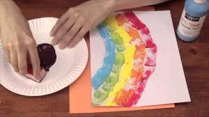 Sponge <b>Printing</b> for Kindergarten Art Activities : Crafts for Kids ...