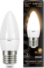 <b>Лампочка Gauss</b>, Теплый свет 6.5 Вт, Светодиодная <b>103102107</b> ...
