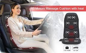 COMFIER Massage <b>Seat Cushion</b> with <b>Heat</b> - 10 Vibration Motors, 3 ...