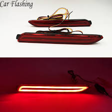 <b>1 Pair</b> Car LED <b>Rear Bumper Reflector</b> Brake Lights Red Lamp for ...