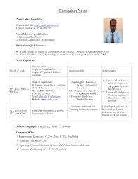 sample resume for engineering college lecturer resume sample resume for engineering college lecturer resume templates professional cv format