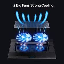 Portable 7 Height <b>Adjustable Laptop Cooling Fan Stand</b> ...
