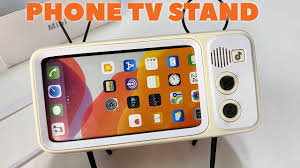 Novelty <b>Retro TV</b> Mobile Phone Display Stand Review - YouTube