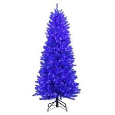 Home Accents Holiday 6 ft. Pre-Lit <b>Shiny</b> Blue Fraser Artificial ...