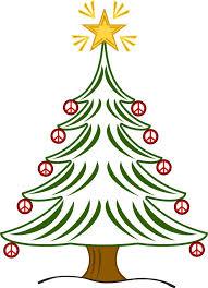 christmas peace sign clip art | tree xmas christmas peace symbol ...