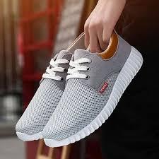 <b>Men Mesh</b> Fabric Breathable Shock Absorption Sneakers Sport ...