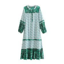 GYPSY Boho Chic <b>Summer Vintage Ethnic</b> Floral Midi Dress ...