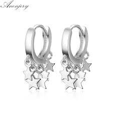 Anenjery <b>2019 New</b> Trendy Star <b>Tassel Earrings</b> For Women 925 ...