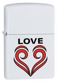<b>Зажигалка ZIPPO 214 Love</b> Theme с покрытием White Matte ...