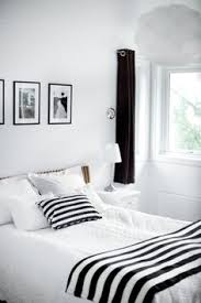 soft combination of black and white bedroom 500x749 calm and elegant nuance black white bedroom ideas black white