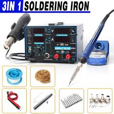 GENUINE <b>YIHUA 853D 3 in</b> 1 Rework Station Soldering Iron Hot Air ...