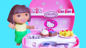 dora childrens play kitchen toy review