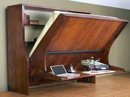 wall bed couch with desk attached awesome murphy bed office