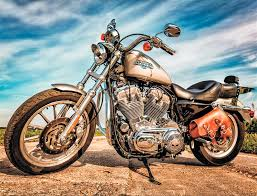<b>Алмазная</b> вышивка «<b>Harley</b>-<b>Davidson</b> Sportster» LG226 <b>Цветной</b> ...