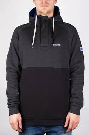 <b>Толстовка MAZINE Male</b> Basic Buttoned Hoody (Black-Mel-Black ...