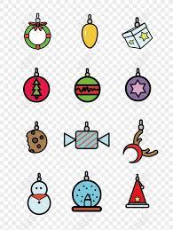Free <b>Christmas Ornaments</b> Vector Icon <b>Cartoon Cute</b> Commercial ...