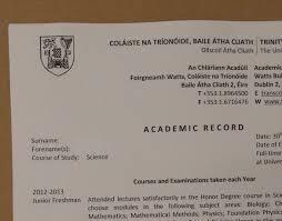 academic registry trinity college dublin undergraduate transcripts