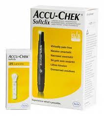 Акку-чек софткликс набор устройство для прокалывания кожи+ ...