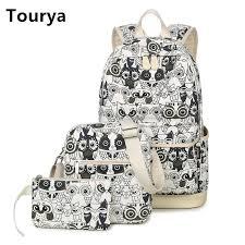 <b>Tourya</b> 3pcs/Set Backpack Women <b>Cute</b> Animal Owl Printing ...