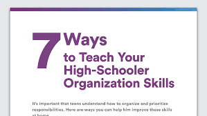 tips for disorganized teenagers organization skills in high school