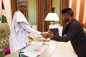 teamwork is how buhari presidency works vp responding to teamwork is how buhari presidency works vp responding to questions after handing over to president buhari