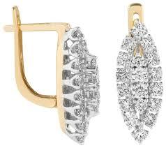 Yvel <b>Серьги с 36</b> бриллиантами из жёлтого золота 2062001694662