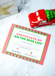 santa good list certificate brought to you by mom family i ve created this santa good list certificate as a way to bring a special touch to the fun there are plenty of ways to incorporate this certificate