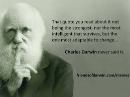 The 'not the strongest' meme – The Friends of Charles Darwin via Relatably.com
