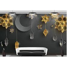 Wallpaper mural <b>black</b> gold star moon fairy <b>high</b>-<b>end 3D</b> TV ...