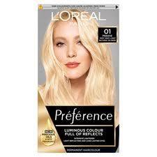 <b>L'oreal Paris</b> Preference <b>01</b> Lightest Blonde - Tesco Groceries