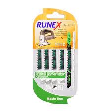 <b>Пилка для электролобзика</b> Runex T111C для дерева, пластика 5 ...