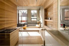 wooden laminate wall decoration with shower cabin and glass walls bathroom recessed light in ceiling ceiling wall shower lighting