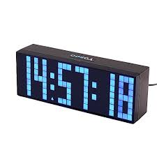Nazaka | Wall <b>Clock</b> | 1 Piece Smart <b>Clock LED Digital</b> Fashion ...