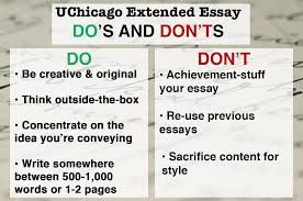 how to get into university of chicago admissions requirements university of chicago extended essay do s and don ts