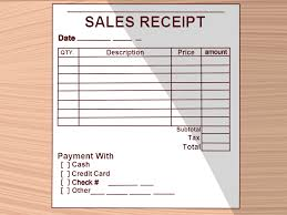 how to write a receipt steps pictures wikihow